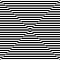Espejismo de patrón de línea horizontal negro abstracto sobre fondo blanco. vector