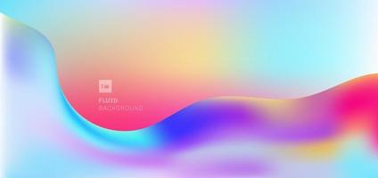 Abstract modern fluid wave shape colorful flowing background. vector