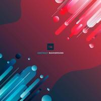 Abstract geometric gradient shapes composition background minimal style. vector