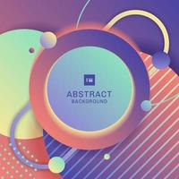 Abstract modern bright geometric circle pattern overlapping composition with shadows background. vector