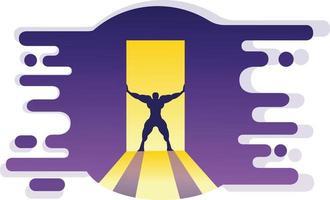 Vector illustration bodybuilding
