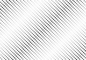Abstract black diagonal halftone pattern on white background dotted texture. vector
