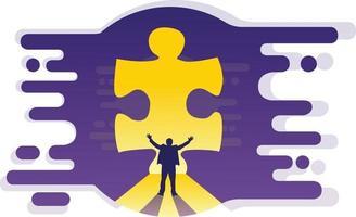 Vector illustration puzzle solution concept