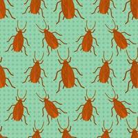 cucaracha insecto ilustración de patrones sin fisuras vector