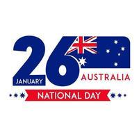 Australia National Day on 26 January wallpaper vector