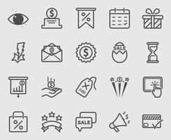 Discount and Bonus line icons set vector