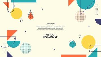 Abstract flat 3d gemetric shapes background vector