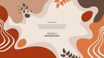 Fondo abstracto de formas fluidas florales planas vector