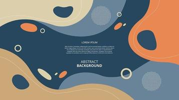 Fondo de formas de círculo fluido plano abstracto vector