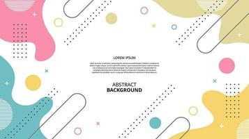 Abstract flat diagonal gemetric fluid shapes white background vector