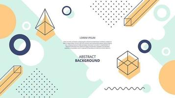Abstract flat geometric diagonal shapes background vector