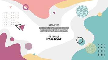 Abstract flat gemetric fluid shapes background vector