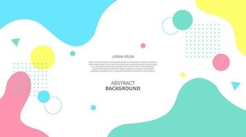 Abstract flat geometric fluid shapes background vector