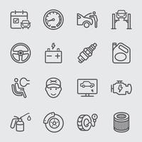 Car services  line icons set vector