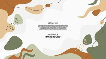 Abstract flat nature fluid shapes background