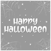 Happy Halloween spooky text card vector