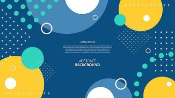 Abstract flat geometric shapes dark background vector