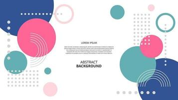 Abstract flat geometric shapes background vector