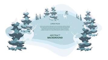 Abstract flat winter landscape background
