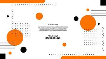 Abstract flat orange black geometric shapes background vector