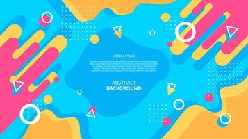 Abstract flat diagonal geometric fluid shapes background vector
