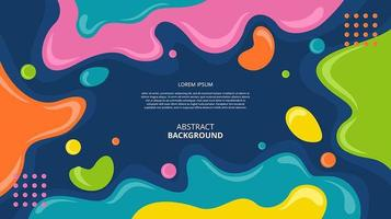 Abstract flat fluid shapes background vector