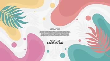 Abstract flat floral fluid shapes background vector