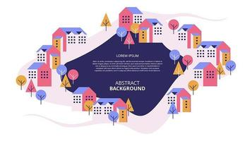 Abstract flat housing landscape background vector