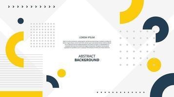 Fondo de formas geométricas planas abstractas vector
