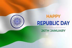 feliz dia de la república india vector
