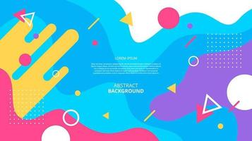 Abstract flat geometric shapes memphis background vector