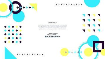 Abstract flat geometric shapes memphis neon background