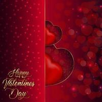 Lovely happy valentine's day design vector