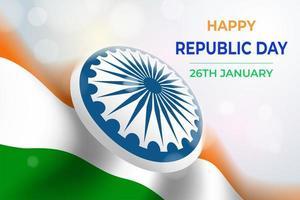 Indian Republic Day Celebration vector