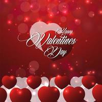 Lovely happy valentine's day with background vector