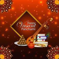 Vasant panchami creative background vector
