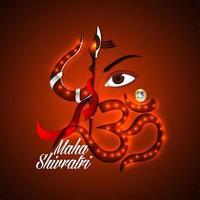 Creative illustration of Lord Shiva for Mahashivratri vector