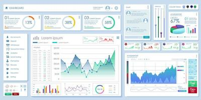 Set Vector Elements of Infographics and User Interface