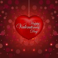 Happy valentine's day background with hearts vector