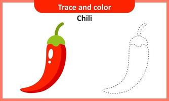 Trace and Color Chili vector