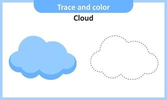 Trace and Color Cloud vector
