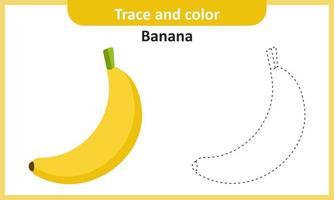 trazar y colorear plátano vector