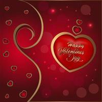 feliz dia de san valentin fondo con corazones vector