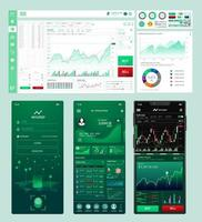 Dashboard and mobile elements Set Template vector