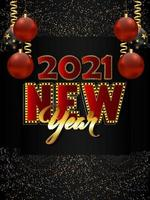 Happy new year party flyer vector