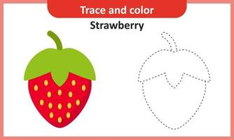 Trace and Color Strawberry vector