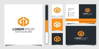 Letter GG logo design and business card vector