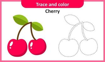 Trace and Color Cherry vector