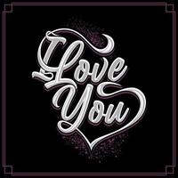 I love you vector for Valentine or other use