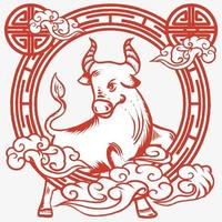 Chinese new year ox Illustration vector